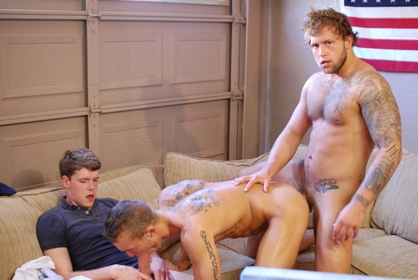 horny college dude swallowing cock on a movie get-together